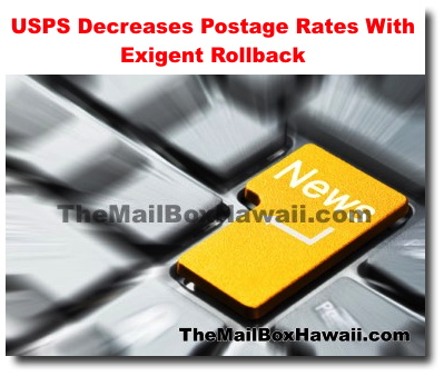 USPS Decreases Postage Rates With Exigent Rollback - PO