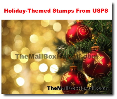 Usps Christmas Eve.Holiday Themed Stamps From Usps Po Mailbox Rental Honolulu